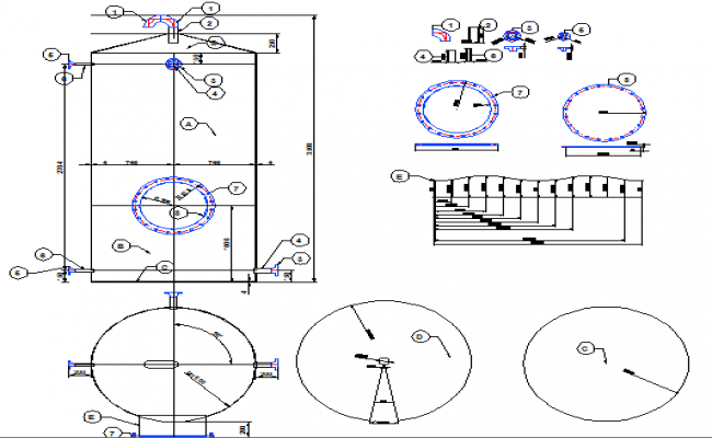 Gas tank architecture project dwg file