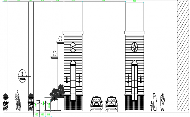Gate Location Layout Plan dwg file