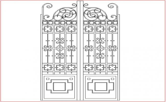 Gate design in position of double door