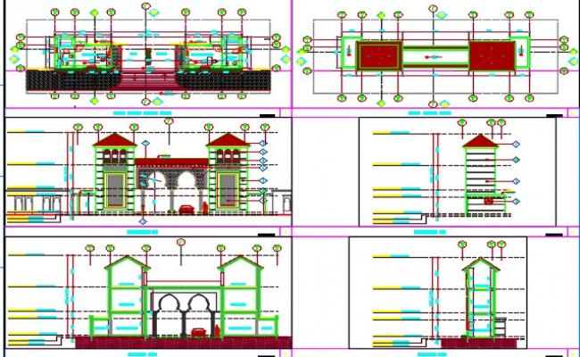 Gate house details