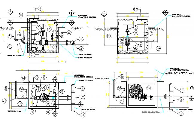 Gate valve architecture design dwg file