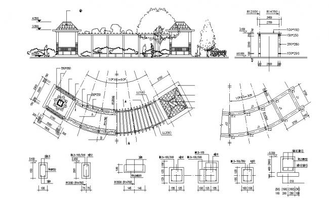 Gazebo Construction Plan AutoCAD File