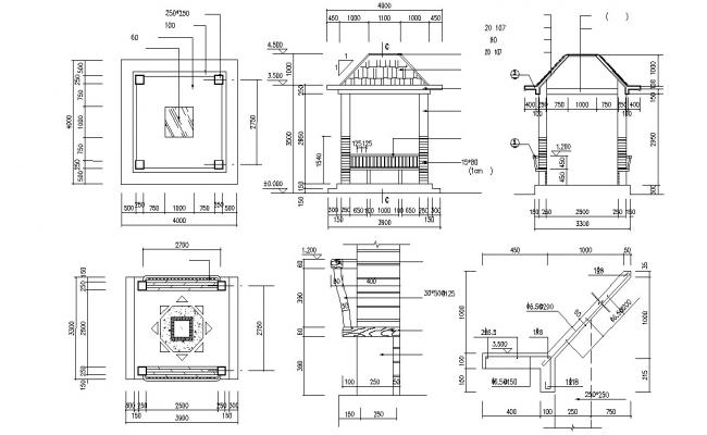 Gazebo Plan AutoCAD File