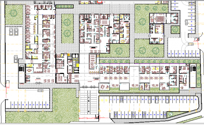 General Hospital Architecture Project dwg file