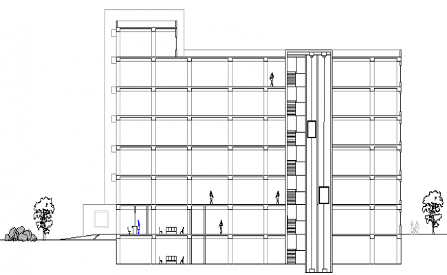 General Hospital Elevation and Structure Details dwg file