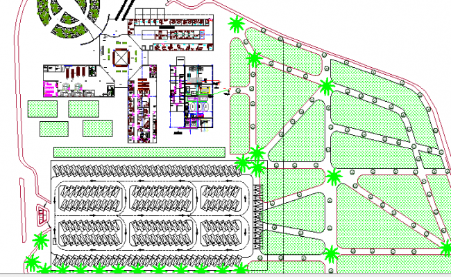 General Hospital Landscaping and Structure Details dwg file