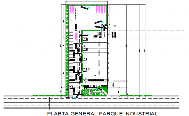 General Industry project plan detail dwg file
