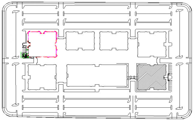 General layout plan details of office floor dwg file