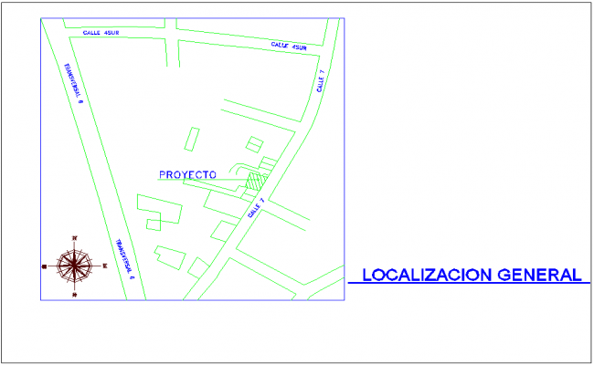General location view of office area with family area architectural view dwg file