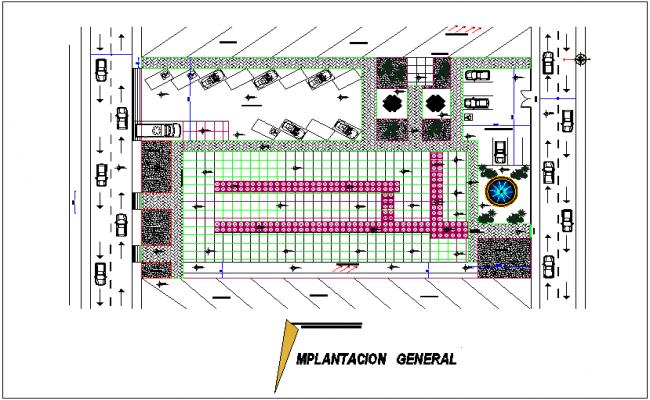 General plan of imaging center for medical dwg file