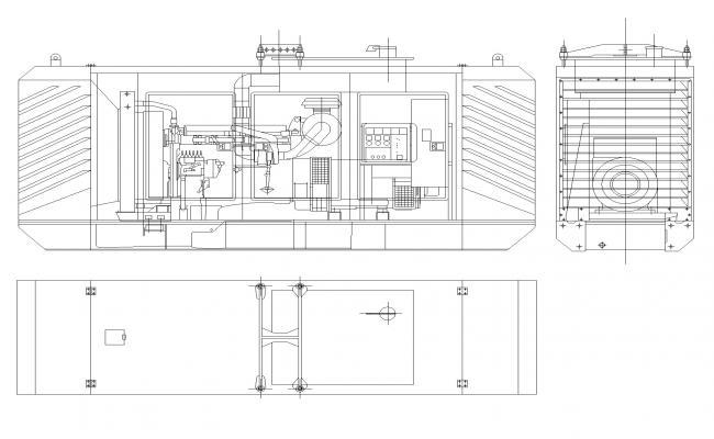 Generator 300 kv machine autocad file