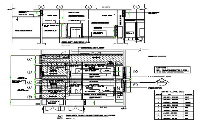 Generator Room  design drawing