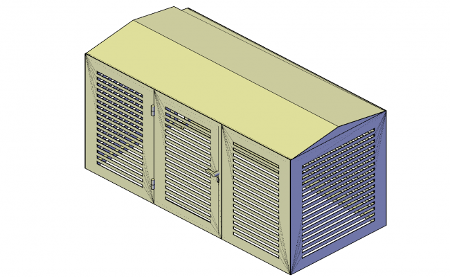 Generator building plan detail dwg file.