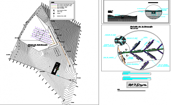 Geotextile sanitary land fill layout file