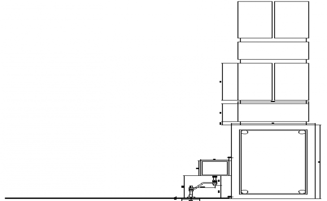 Glass chandelier details dwg file