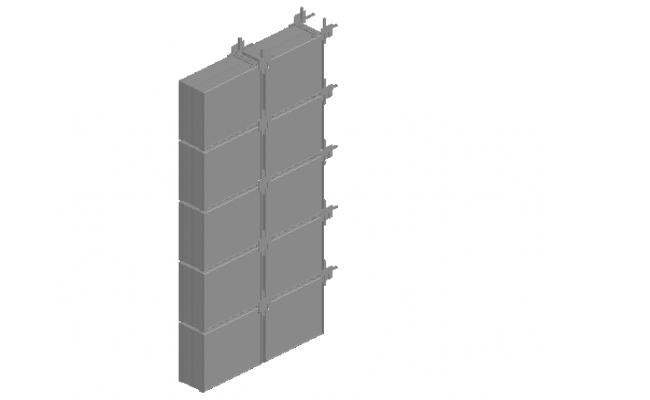 Glass concrete construction material 3d