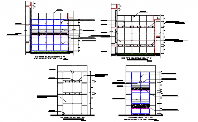 Glass Modular Detail Dwg File