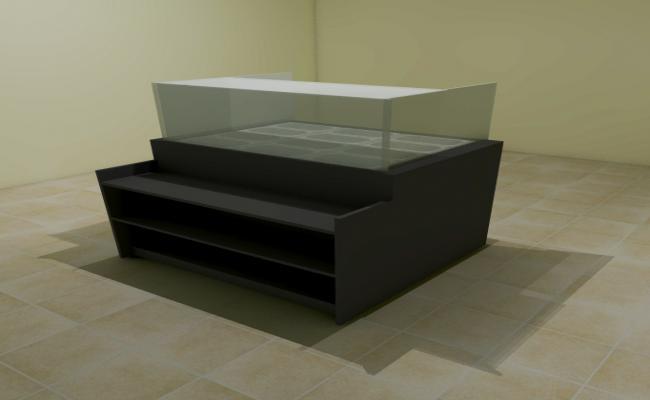Glass steel display