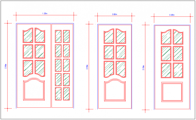 Glazed door design view