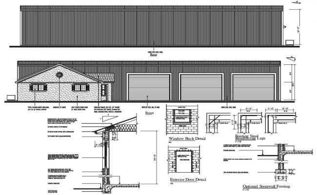 Godown Elevation Design DWG File
