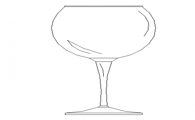Golbet glass cup cad design block dwg file