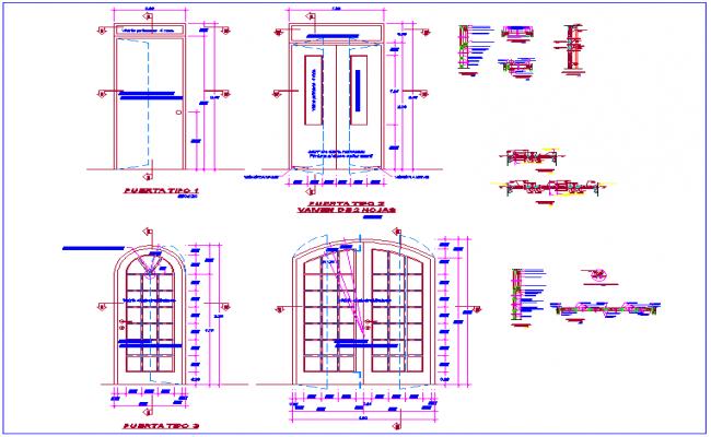 Gothic door design view