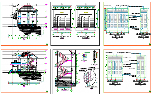 Government Head Quarters Section and Construction Details dwg file