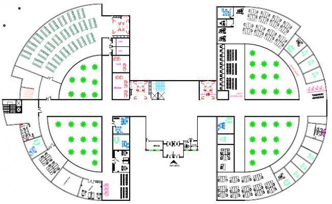 office building floor plan.  Government Municipality Office Building Layout Design Drawing