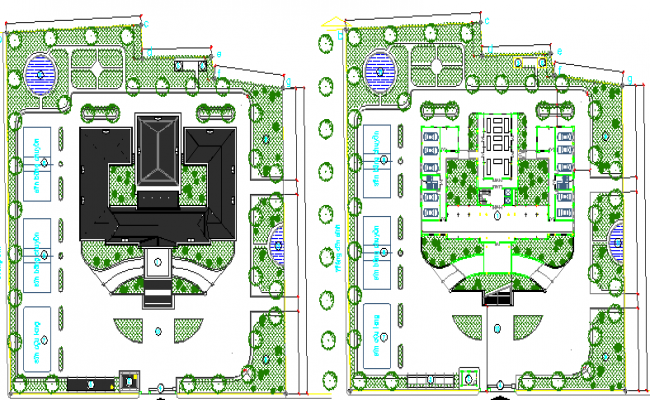 Government Museum Architecture Design, Structure dwg file