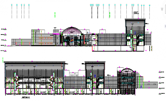 Government Office Building dwg file