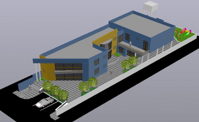 Government building design 3d view