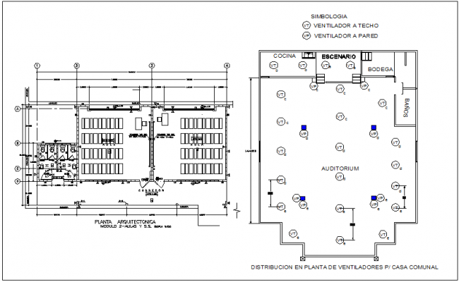 Government building of community home architectural plan with door and window mounting plan dwg file