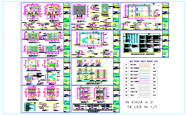 Government office project detail in DWG file