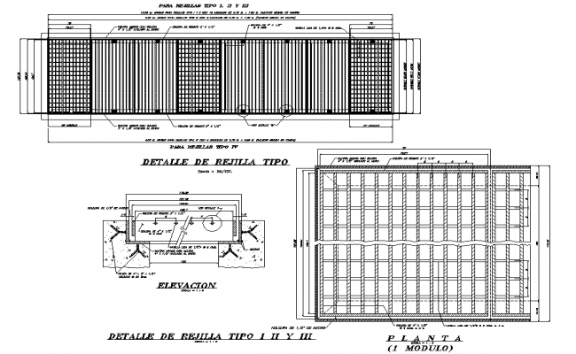 Grid type plan detail dwg file