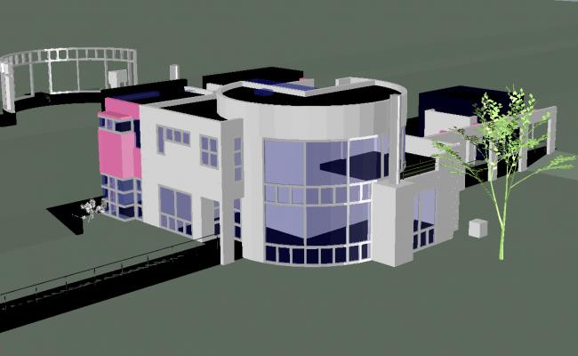 Grotta House plan dwg file.