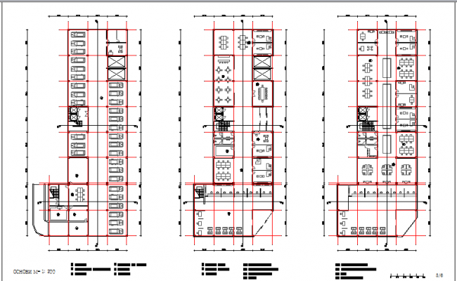 Ground, first and floor layout plan details of bank office building dwg file