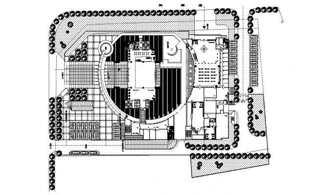Ground Floor Corporate Building Design Plan