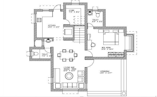 Ground Floor House Plan DWG File