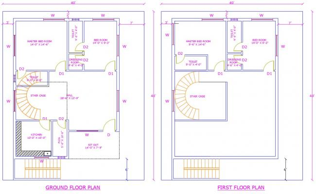 Ground Floor and First Floor Plan