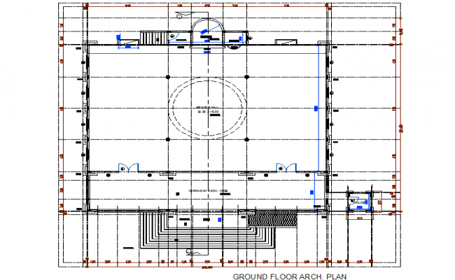 Architecture Ground Floor Plan AutoCAD Drawings