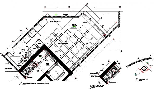 ground floor garbage room plan detail dwg file