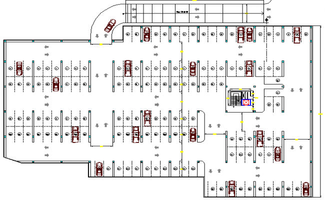 Ground floor layout plan of finance building dwg file