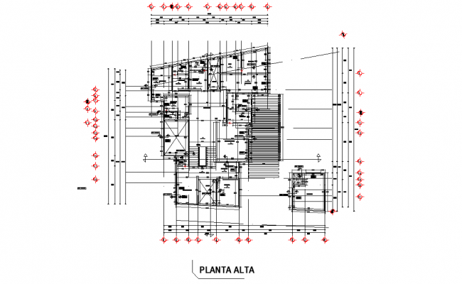 Ground floor living place detail dwg file