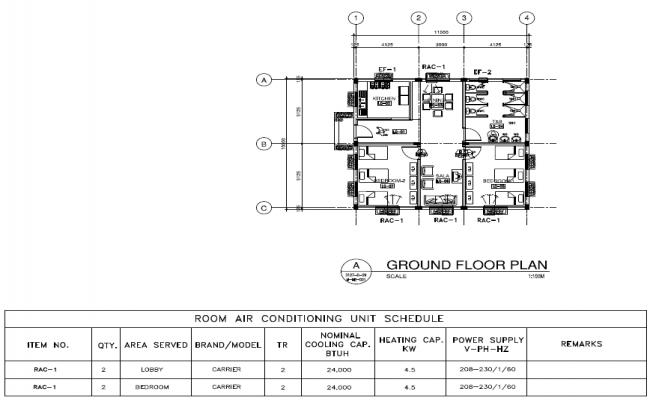 Ground floor plan of Residence