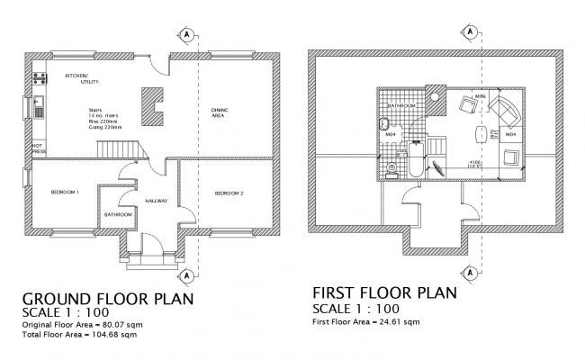 Ground floor plan of Residential house in AutoCAD