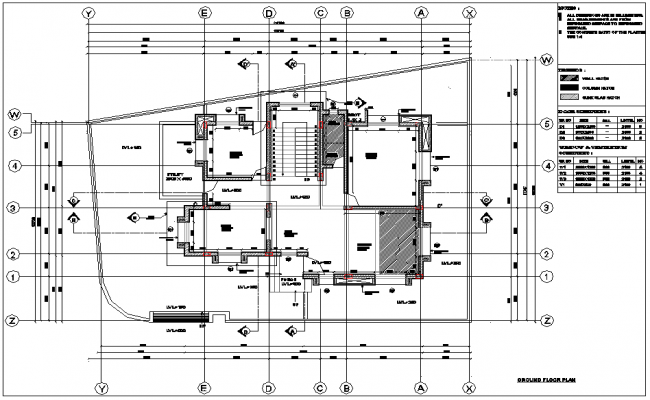 Ground floor plan of bungalows dwg file