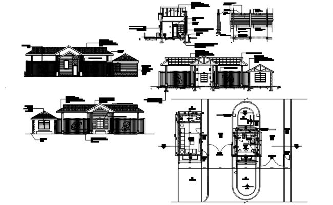 Ground floor plan of house design in 4.100mtr x 7.300mtr with detail dimension in dwg file