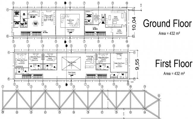Ground floor plan in AutoCAD file