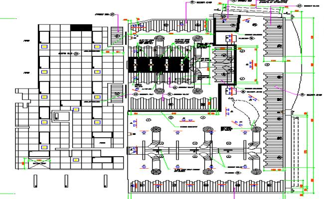 Ground floor reflection ceiling plan details of restaurant dwg file