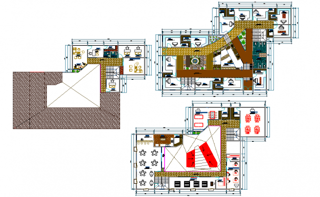 Ground floor to terrace floor artisanal layout file